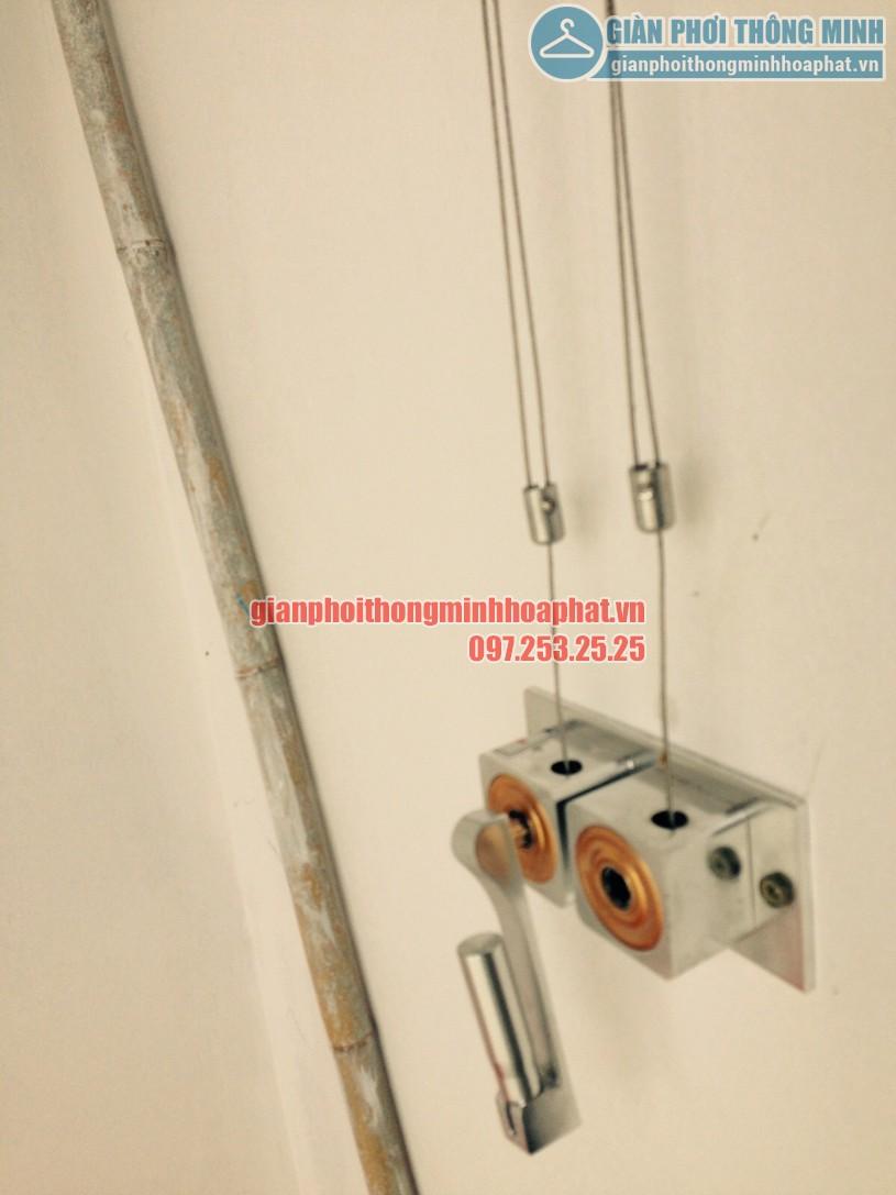 Thay dây cáp giàn phơi nhà chú Quốc tòa N01T1, Hancorp, chung cư Ngoại Giao Đoàn-01