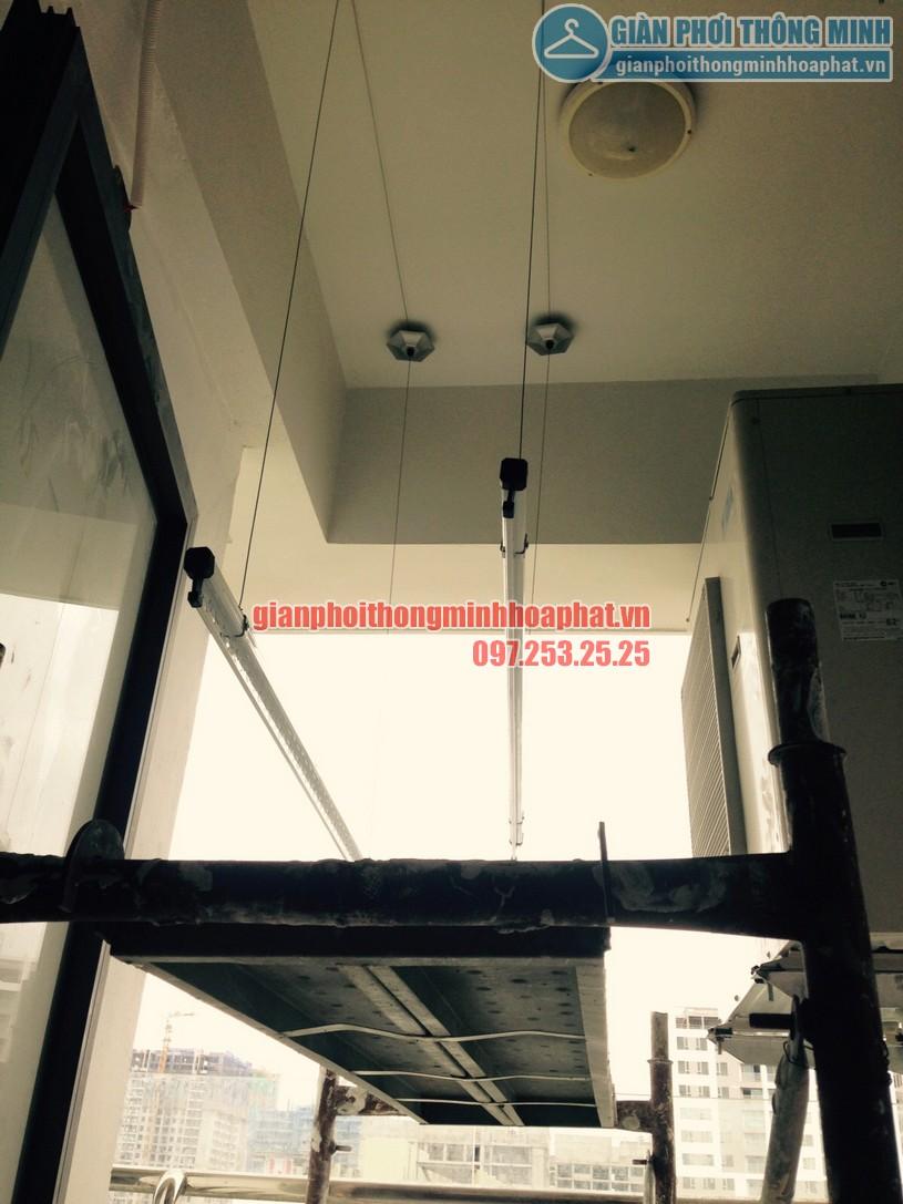 Thay dây cáp giàn phơi nhà chú Quốc tòa N01T1, Hancorp, chung cư Ngoại Giao Đoàn-03