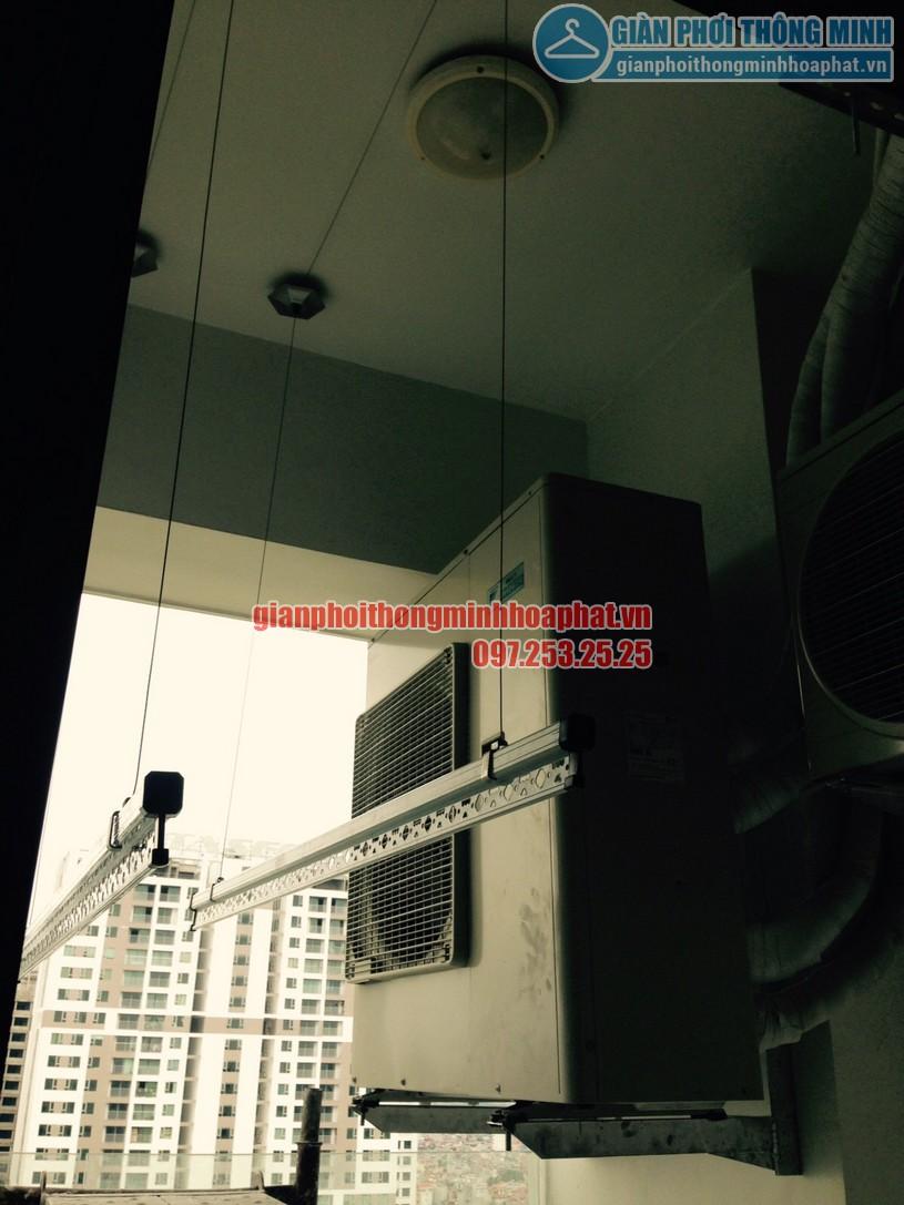 Thay dây cáp giàn phơi nhà chú Quốc tòa N01T1, Hancorp, chung cư Ngoại Giao Đoàn-04