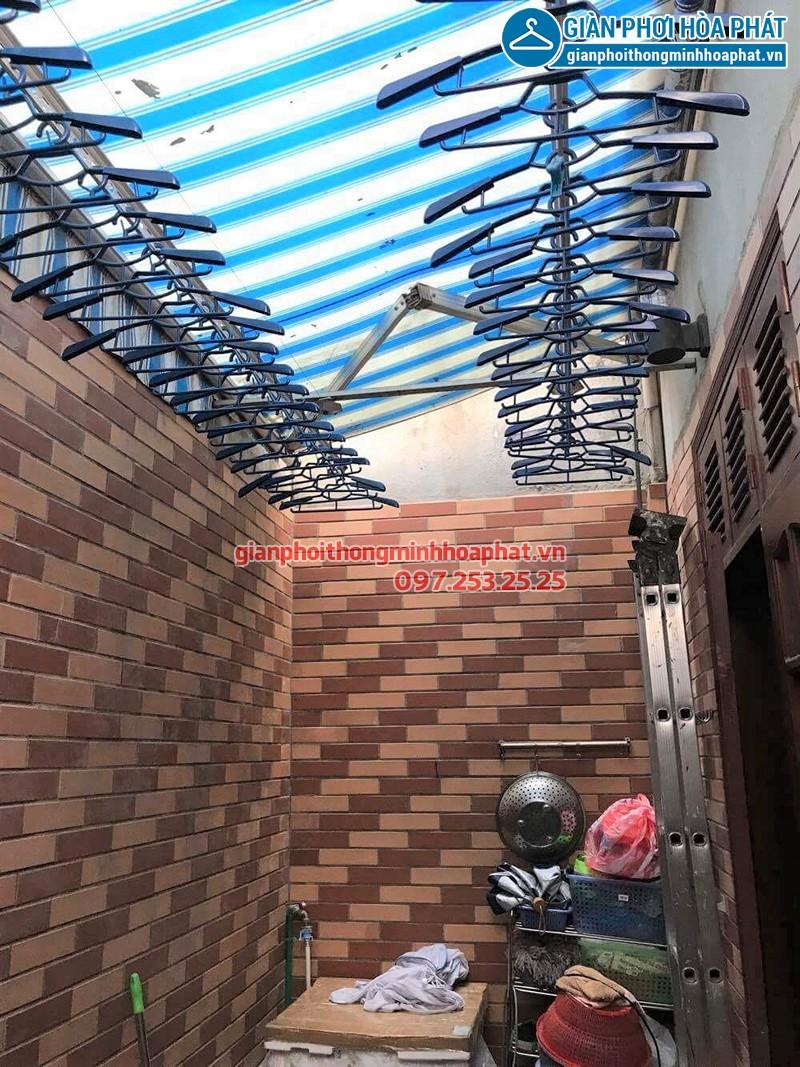 Bộ giàn phơi Hòa Phát 999B nhà cô Thức sau khi hoàn thiện lắp đặt