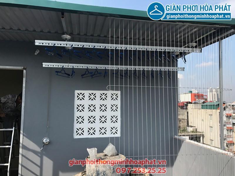 Lắp bộ giàn phơi Hòa Phát cao cấp nhà chị Hải, Hiệp Thành, Quận 12, Tp Hồ Chí Minh