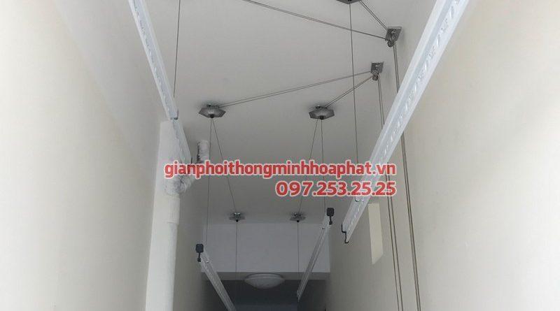 Bộ giàn phơi Hòa phát lắp tại lô gia nhà cô Lãnh, chung cư quận Cẩm Lệ Đà Nẵng