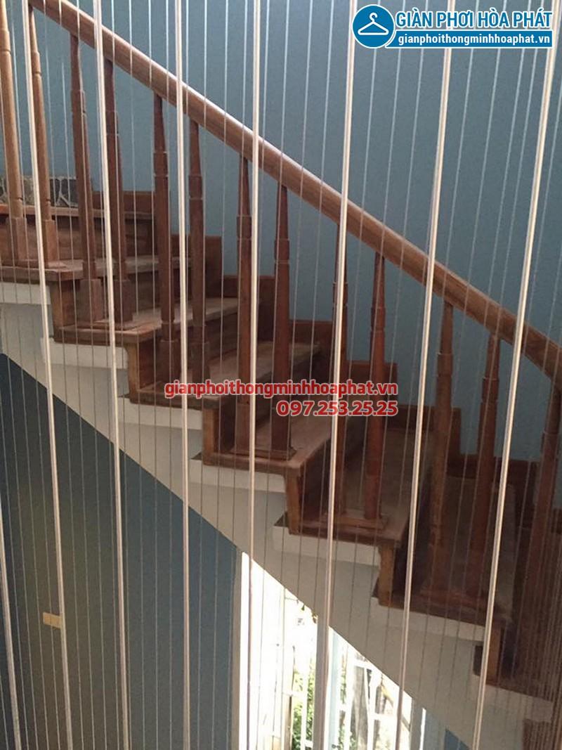 Hình ảnh thực tế lưới an toàn cầu thang trường mầm non Vầng Trăng
