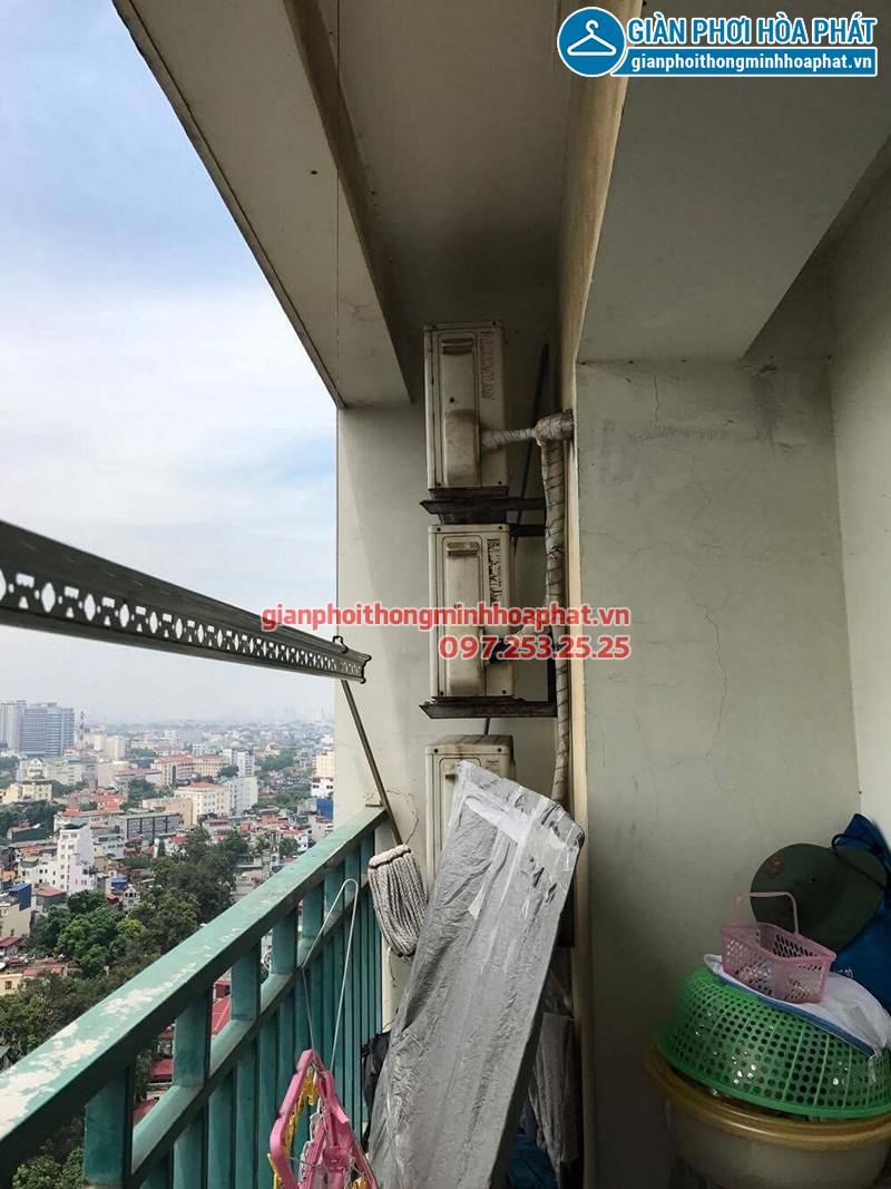 Bộ giàn phơi Hòa Phát Air nhà chị Minh, Mipec Long Biên