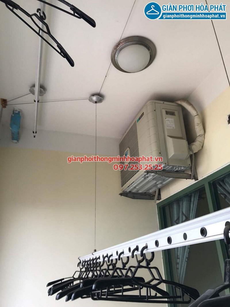 Lắp bộ giàn phơi thông minh giá rẻ nhà chị Ninh, tòa B Hòa Bình Green City