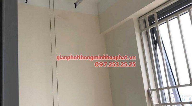 Lắp bộ giàn phơi thông minh Hòa Phát 999B nhà anh Nam, chung cư T608