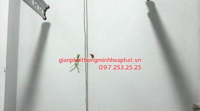 Lắp giàn phơi Ba Đình - bộ giàn phơi Hòa Phát Air HP701, nhà chú Khanh ngõ 173 Hoàng Hoa Thám