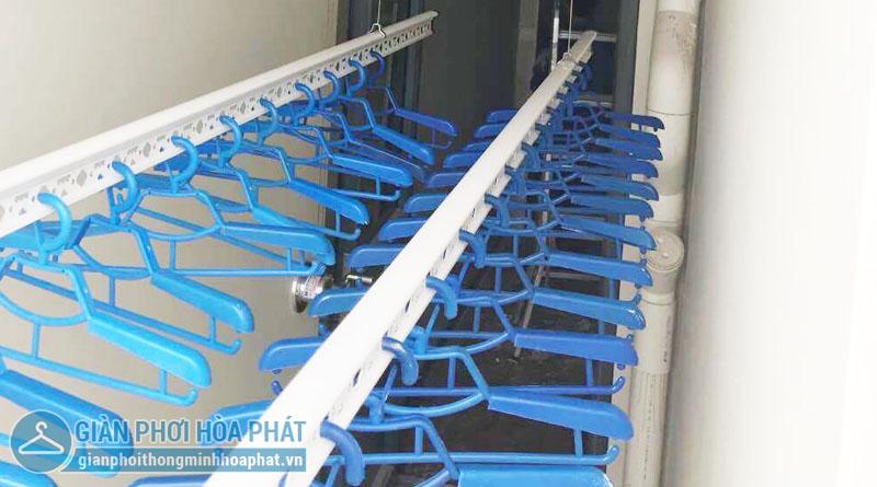 Lắp đặt giàn phơi thông minh Cầu Giấy nhà chị Nụ tại tòa CT2A – Tràng An Complex