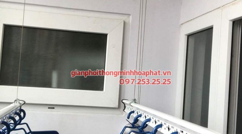 Lắp giàn phơi Đống Đa nhà chị Trà - bộ giàn phơi Hòa Phát, chung cư 51A ngõ Đại Đồng