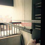 Lắp giàn phơi Hoàng Mai – bộ HP990, nhà chị Phương ở Rice City Linh Đàm