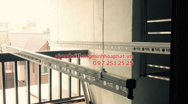 Lắp giàn phơi Hoàng Mai - bộ HP990, nhà chị Phương ở Rice City Linh Đàm