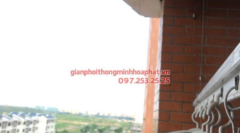 Sửa giàn phơi Cầu Giấy bị hỏng bộ tời nhà chị Tình, chung cư CT2A - KĐT Nghĩa Đô
