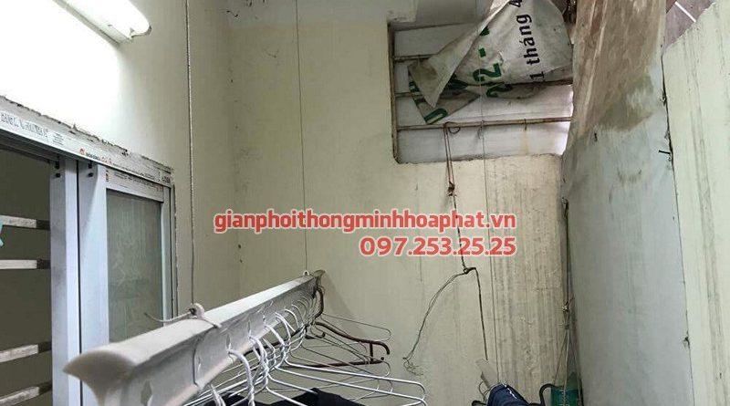 Sửa giàn phơi thông minh Hòa Phát nhà cô Ninh, ngõ 918 đường Thanh Liệt