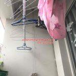 Thay bộ tời giàn phơi Hòa Phát 999B cho bộ giàn phơi nhà cô Bảo, chung cư F4 – Trung Kính