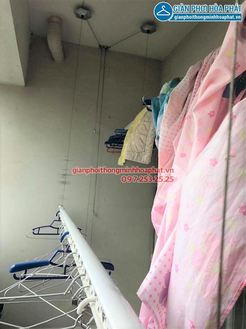 Bộ giàn phơi nhà cô Bảo sau khi thay bộ tời giàn phơi Hòa Phát 999B