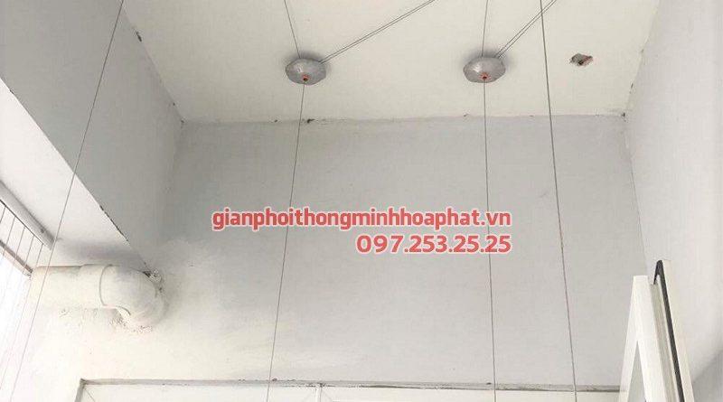 Thay dây cáp bộ giàn phơi Hòa Phát giá rẻ nhà anh Trọng, ngõ 18 Định Công Thượng
