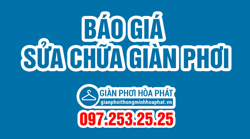 Báo giá sửa giàn phơi 2017