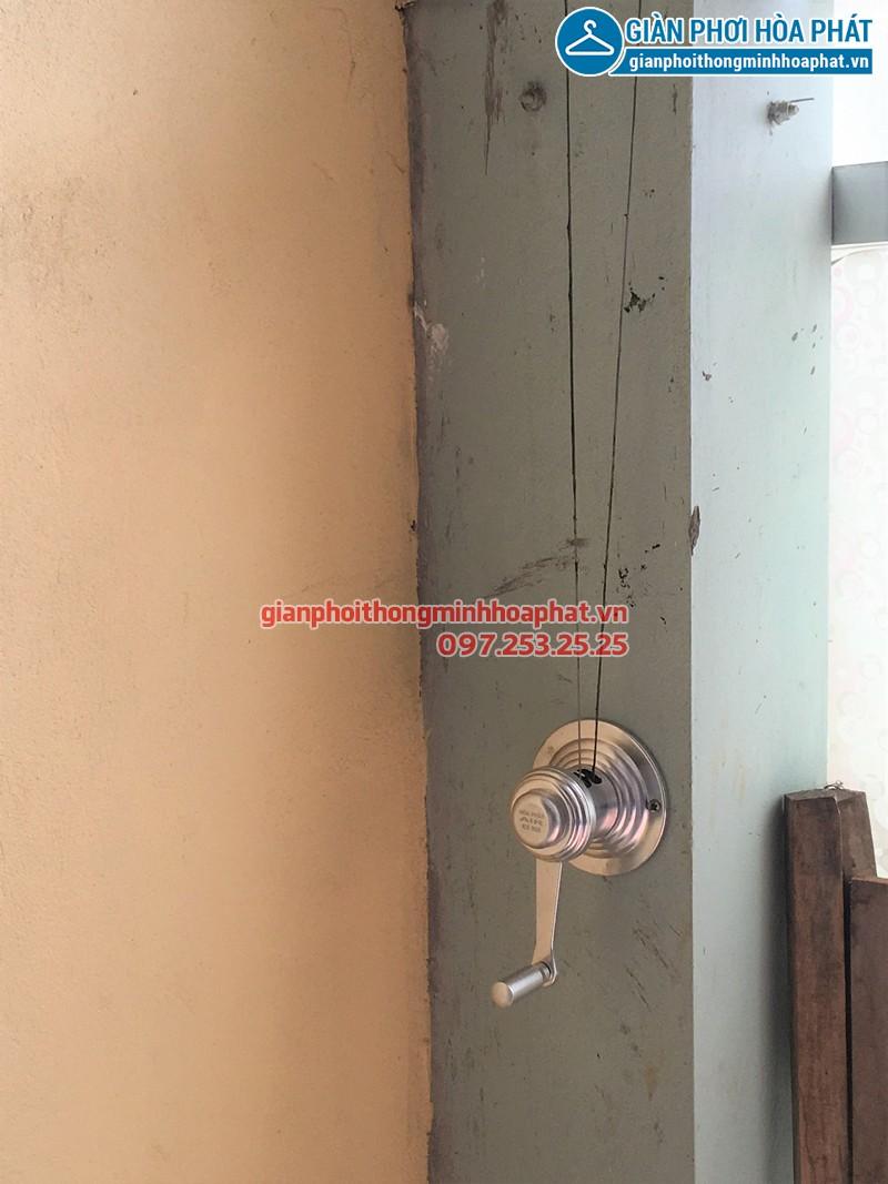 Lắp giàn phơi Ba Đình - bộ giàn phơi Hòa Phát HP990 nhà chị Ngân