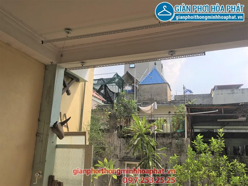 Lắp đặt giàn phơi thông minh Ba Đình - bộ giàn phơi Hòa Phát HP990, nhà chị Ngân ngõ 179 Đội Cấn