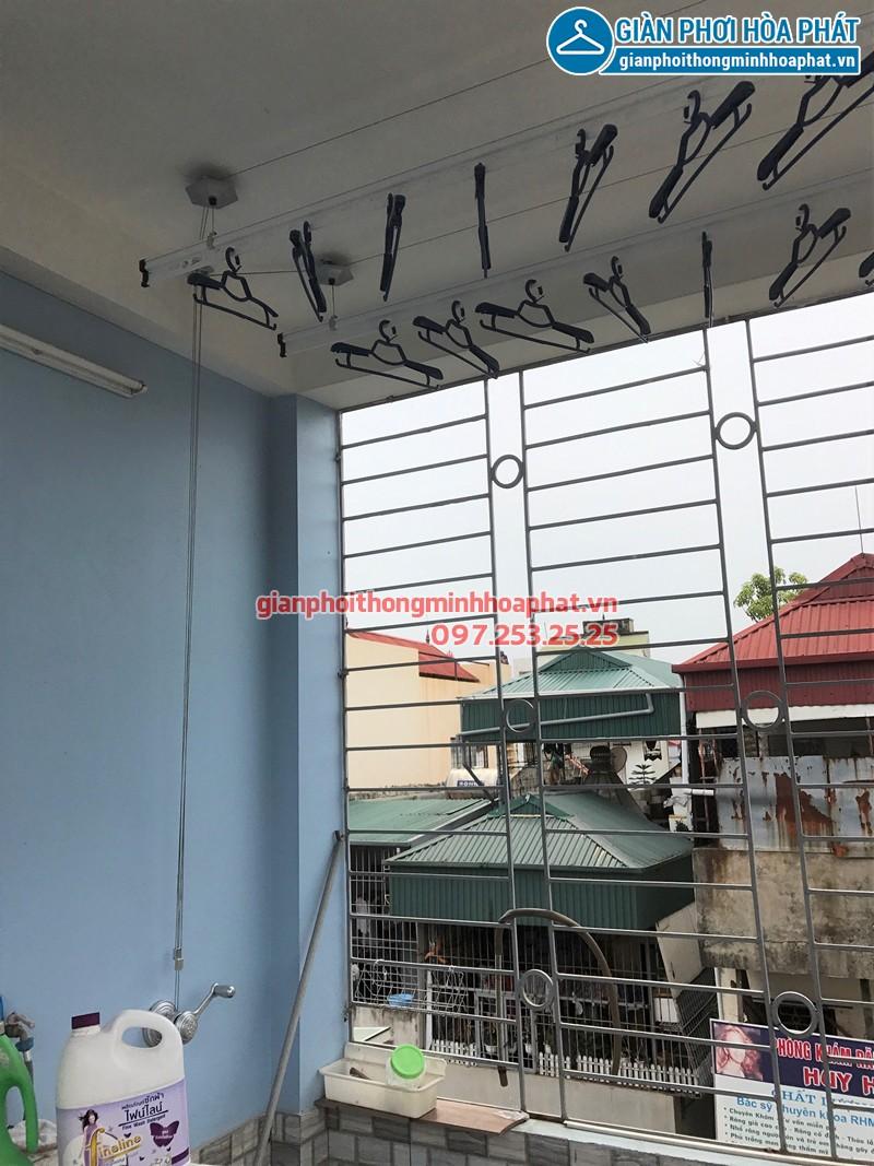 Lắp giàn phơi Thanh Trì - bộ giàn phơi Hòa Phát HP950 nhà chị Lệ
