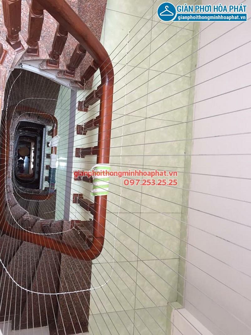 Lưới an toàn cầu thang nhà anh Ninh - Loại lưới an toàn cáp inox