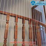 Thi công lưới an toàn cầu thang cho nhà anh Ninh ở ngõ 8 Trần Quang Diệu