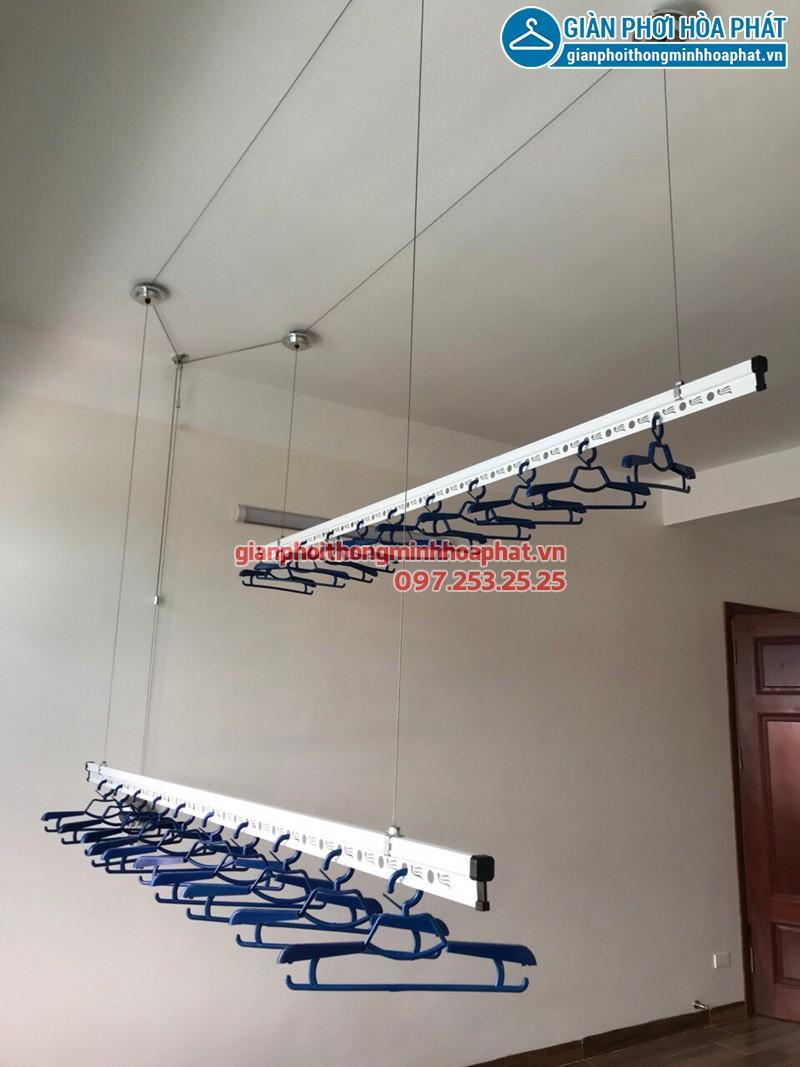 Lắp giàn phơi Ba Đình - bộ giàn phơi Hòa Phát 701 nhà cô Hòa