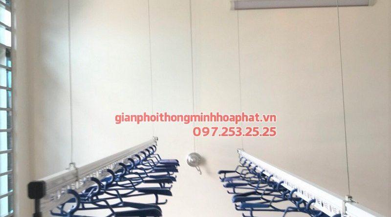Lắp giàn phơi Ba Đình - bộ giàn phơi Hòa Phát 701, nhà cô Hòa ngõ 462 đường Bưởi