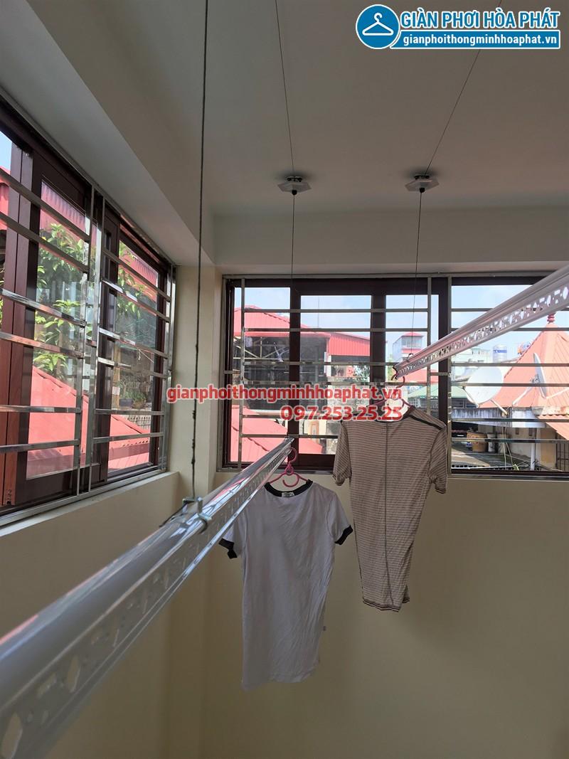 Lắp giàn phơi Ba Đình - Bộ giàn phơi Hòa Phát HP990 nhà anh Hiếu