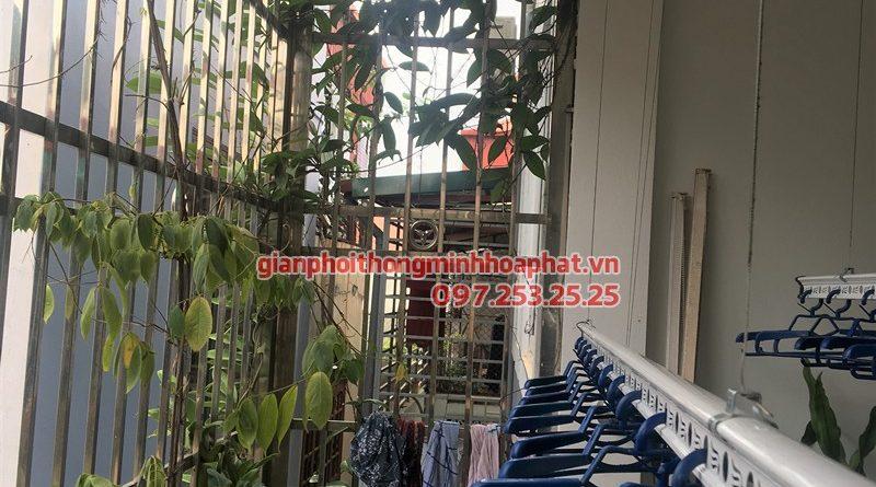 Lắp giàn phơi Bến Cát, Bình Dương nhà chị Hà ở khu phố 2 - Tân Định, bộ HP990