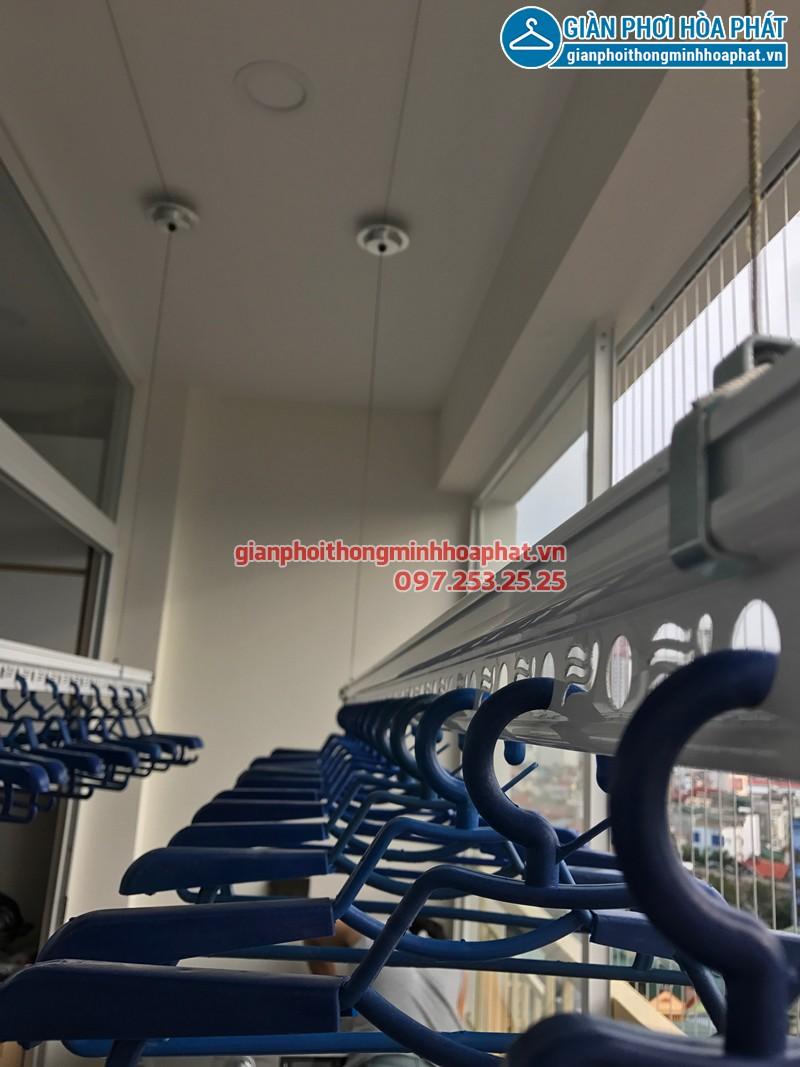 Lắp giàn phơi Biên Hòa, Đồng Nai và lưới an toàn ban công chung cư nhà cô Chính ở Amber Court