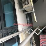 Lắp giàn phơi Cầu Giấy – bộ giàn phơi gắn tường 3 thanh, nhà cô Thạnh ngõ 266 Hồ Tùng Mậu