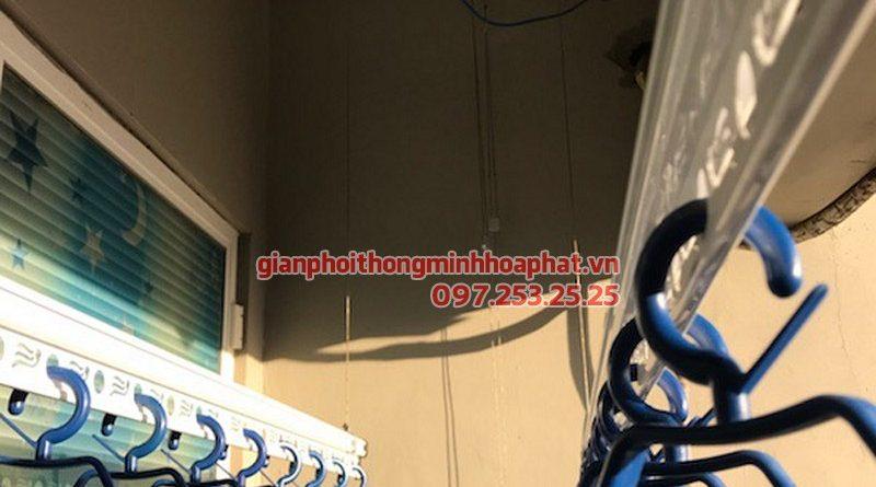 Lắp giàn phơi Hà Đông ở chung cư CT1 Ngô Thị Nhậm nhà cô Đại, bộ giàn phơi Hòa Phát HP950