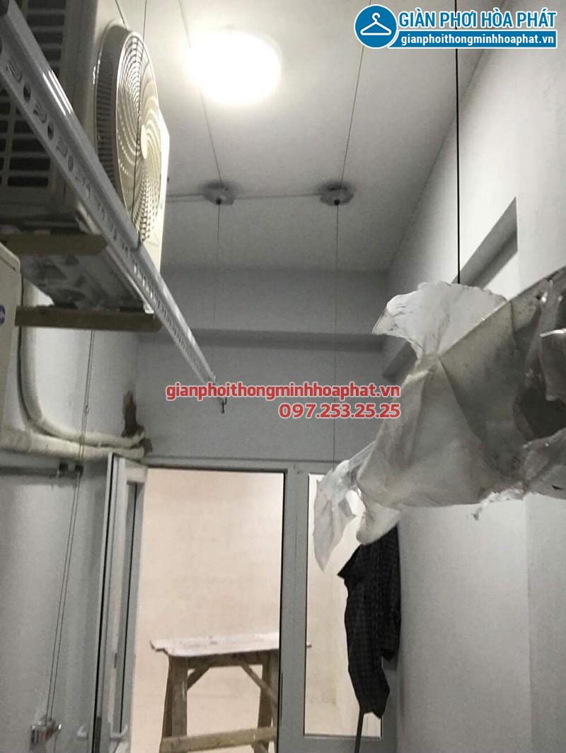 Lắp giàn phơi Hai Bà Trưng ở chung cư 622 Minh Khai nhà cô Thơm
