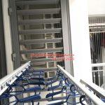 Lắp giàn phơi Hai Bà Trưng ở Park 5 Park Hill nhà chị Hương, bộ HP701