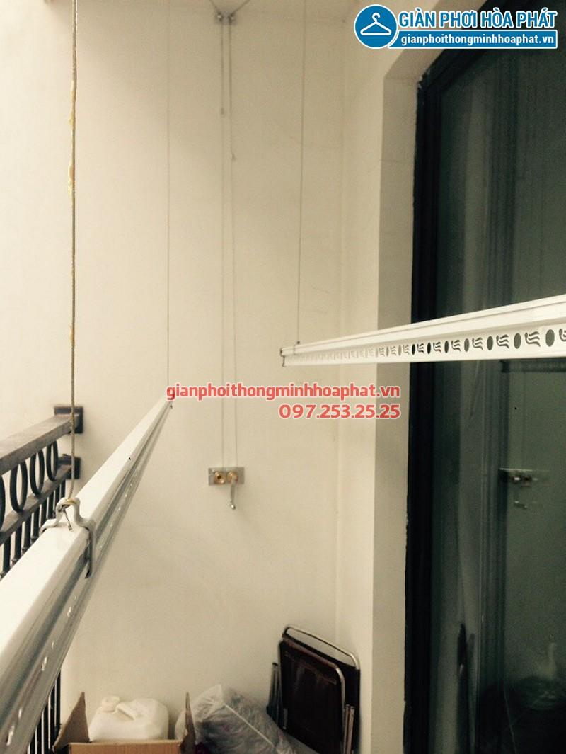 Lắp giàn phơi Hai Bà Trưng ở Times City T3 nhà cô Bảo, bộ giàn phơi Hòa Phát 999B