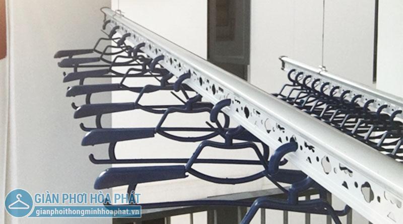 Lắp giàn phơi Hoàng Mai – bộ giàn phơi Hòa Phát Air HP703, nhà chị Tuyết KĐT Gamuda Gardens