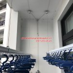 Lắp giàn phơi Thanh Xuân – bộ giàn phơi Hòa Phát Air 701, nhà chị Hà tòa R4 Royal City