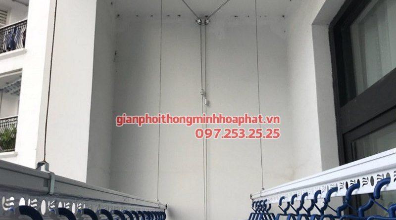 Lắp giàn phơi Thanh Xuân - bộ giàn phơi Hòa Phát Air 701, nhà chị Hà tòa R4 Royal City