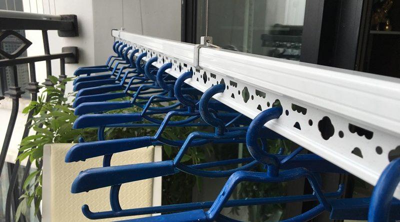 Lắp giàn phơi Thanh Xuân nhà chị Hồng ở tòa R4 Royal City, bộ giàn phơi Hòa Phát HP701