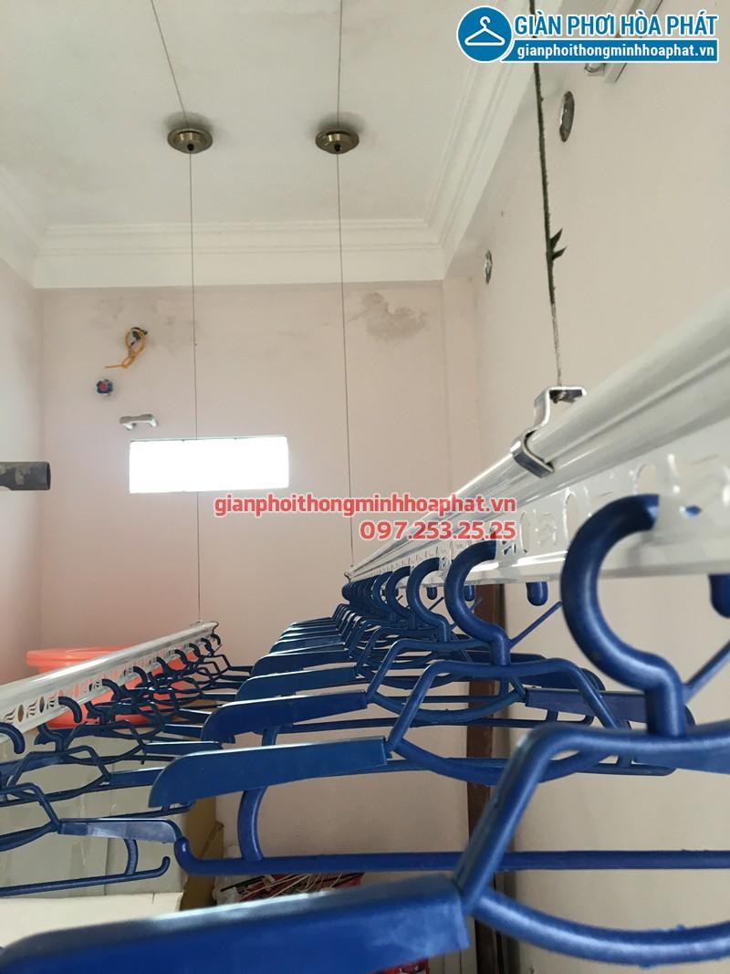 Lắp giàn phơi thông minh Hải Phòng nhà chị Huệ ở khu 97 Bạch Đằng - Hạ Lý, bộ HP703