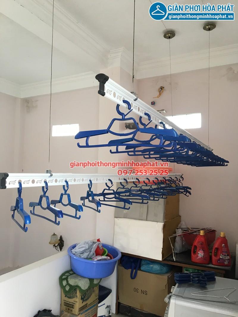 Lắp giàn phơi Hải Phòng nhà chị Huệ, bộ giàn phơi Hòa Phát HP703