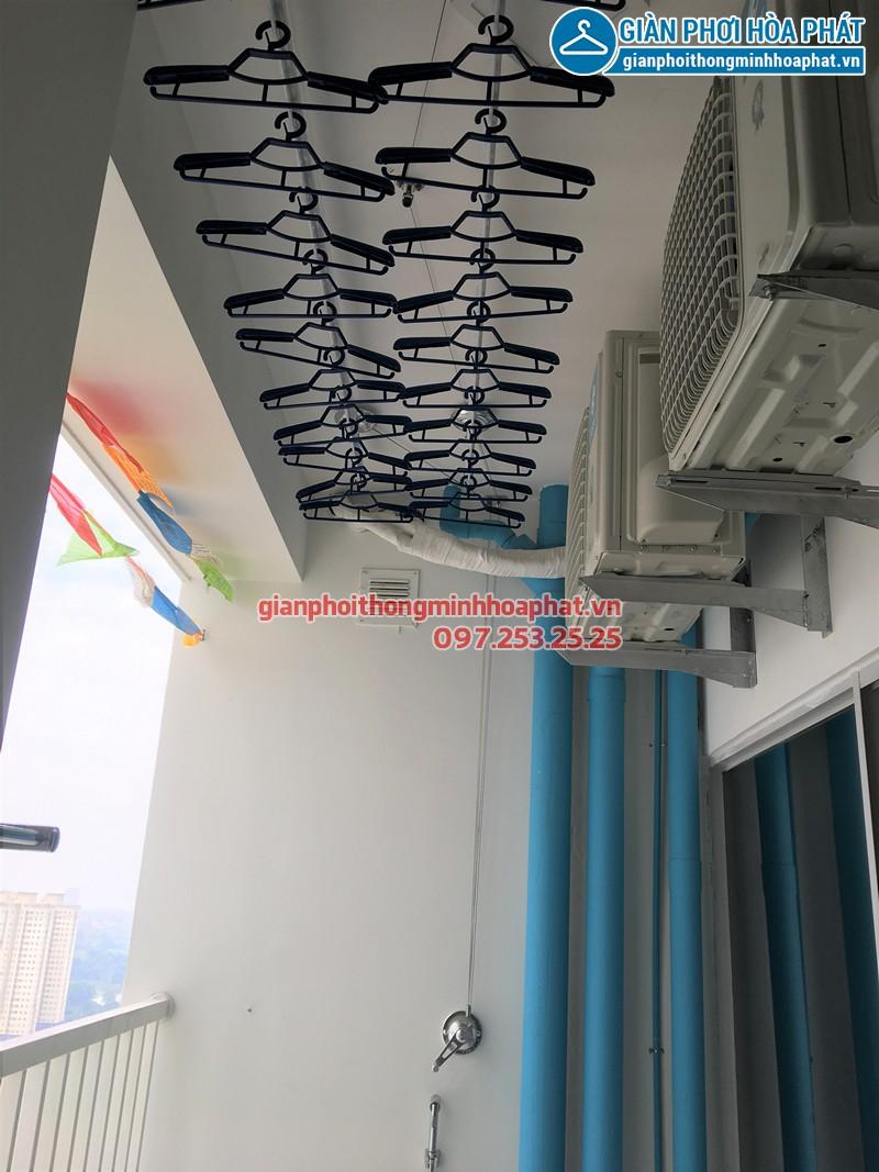 Lắp giàn phơi Từ Liêm - bộ giàn phơi Hòa Phát Air 701 nhà chị Giang