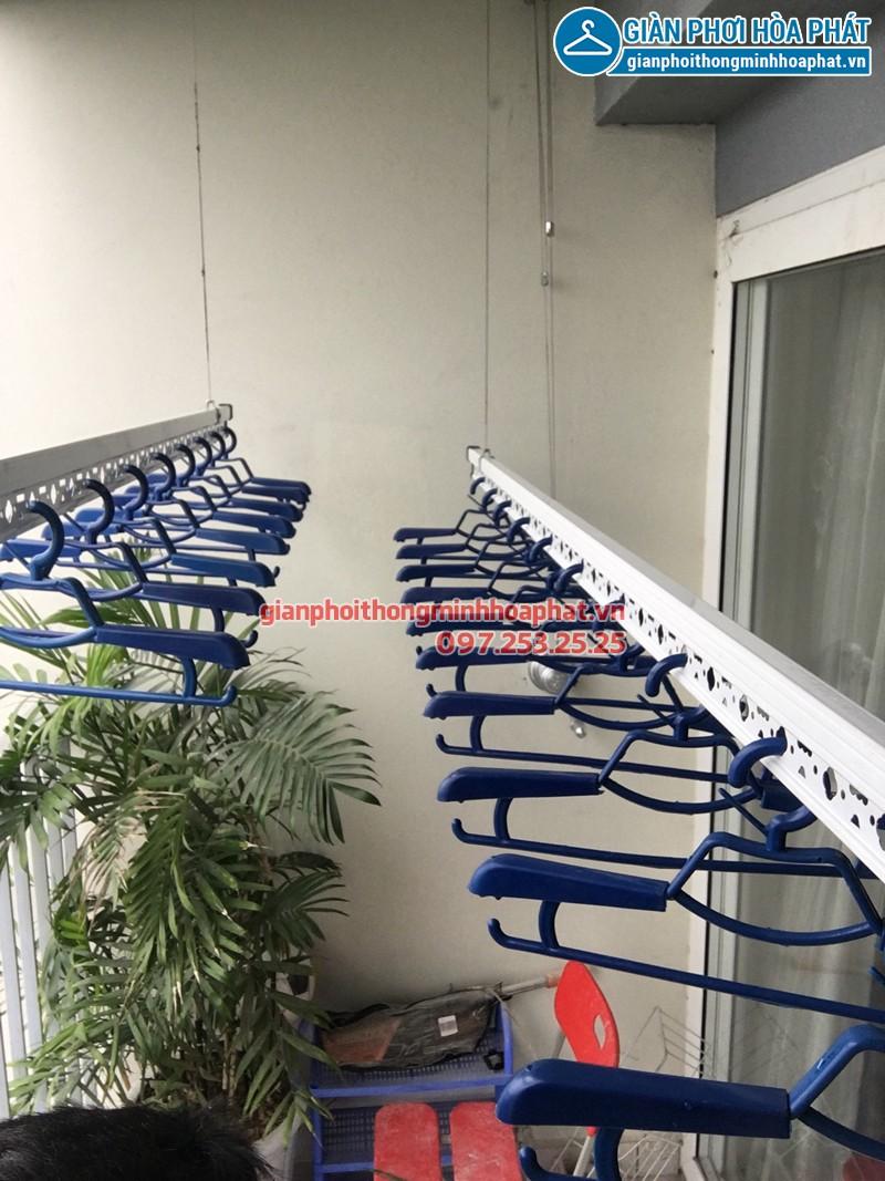 Lắp giàn phơi nhà chị Hà tòa A2 KĐT Ecopark Hà Nội