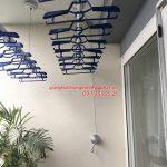 Lắp giàn phơi thông minh tại Ecopark: bộ KS950 nhà chị Hà tòa A2