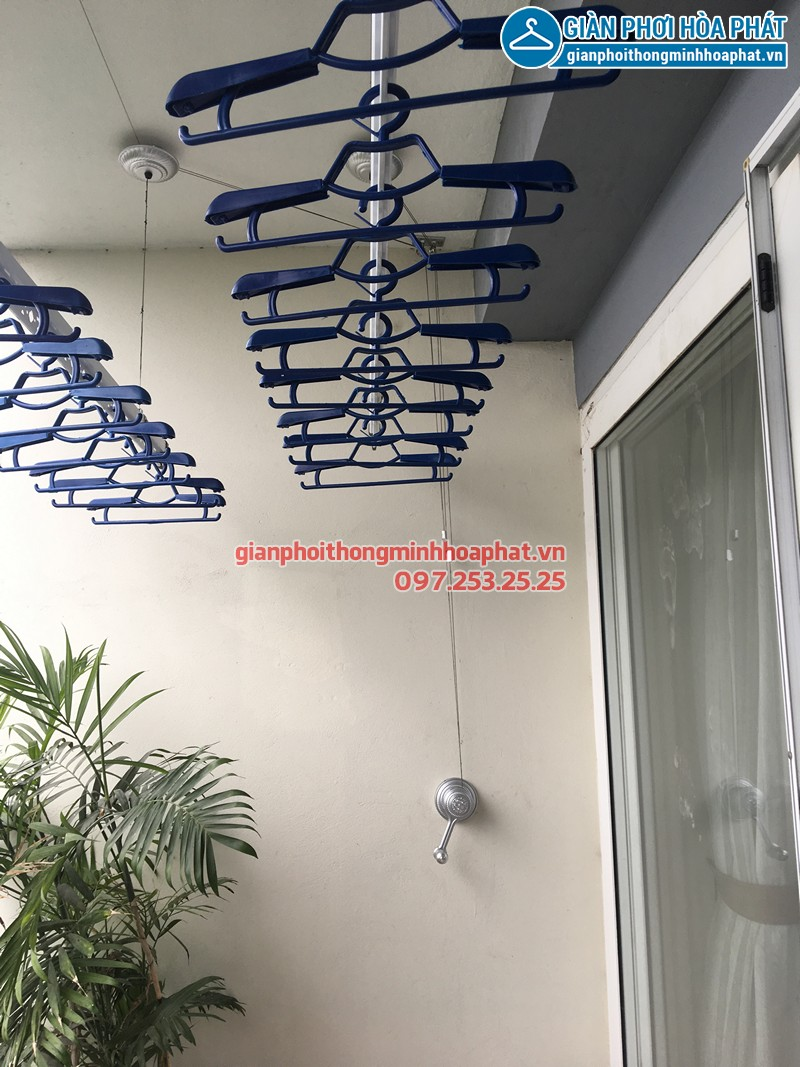Lắp giàn phơi thông minh HP950 nhà chị Hà tòa A2 KĐT Ecopark Hà Nội