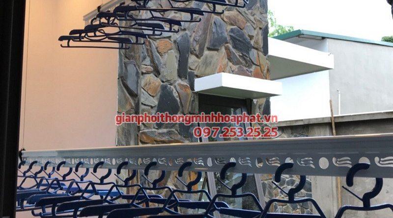 Lắp giàn phơi thông minh quận 7 TP Hồ Chí Minh nhà anh Nghĩa, bộ giàn phơi Hòa Phát HP701