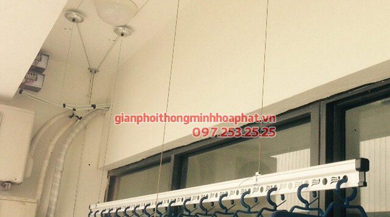 Lắp giàn phơi thông minh Quảng Ninh nhà chị Việt ở Vĩnh Lập - Mạo Khê, bộ HP701