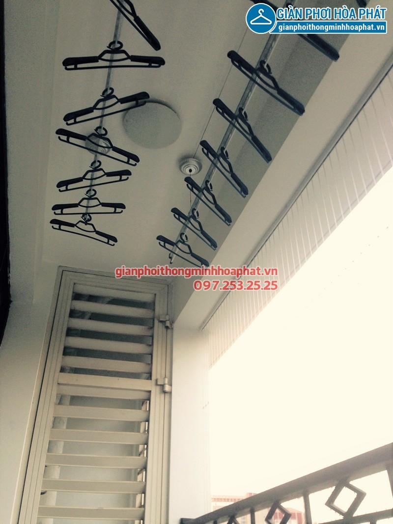 Lắp giàn phơi Hòa Phát tại Đà Nẵng nhà chị Yến ở chung cư Phong Bắc