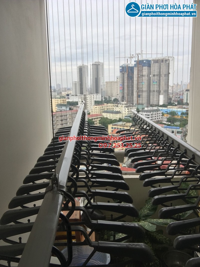Lắp giàn phơi Thanh Hóa nhà chị Vui ở An Hoạch, bộ Sankaku SK701